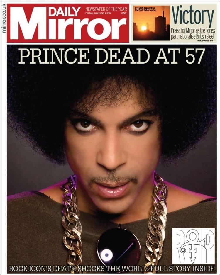 Hommage à Prince sur les unes de la presse internationale. Blog de la photo Zoom'Up