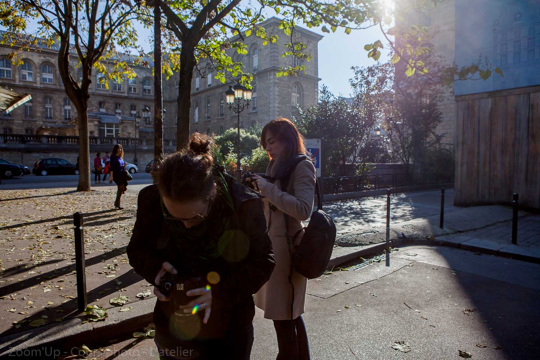Les élèves au travail : les cours de photo Zoom'Up