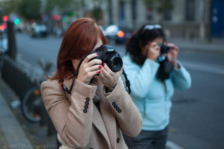 Les élèves au travail : les cours de photo Zoom'UpLes élèves au travail : les cours de photo Zoom'Up