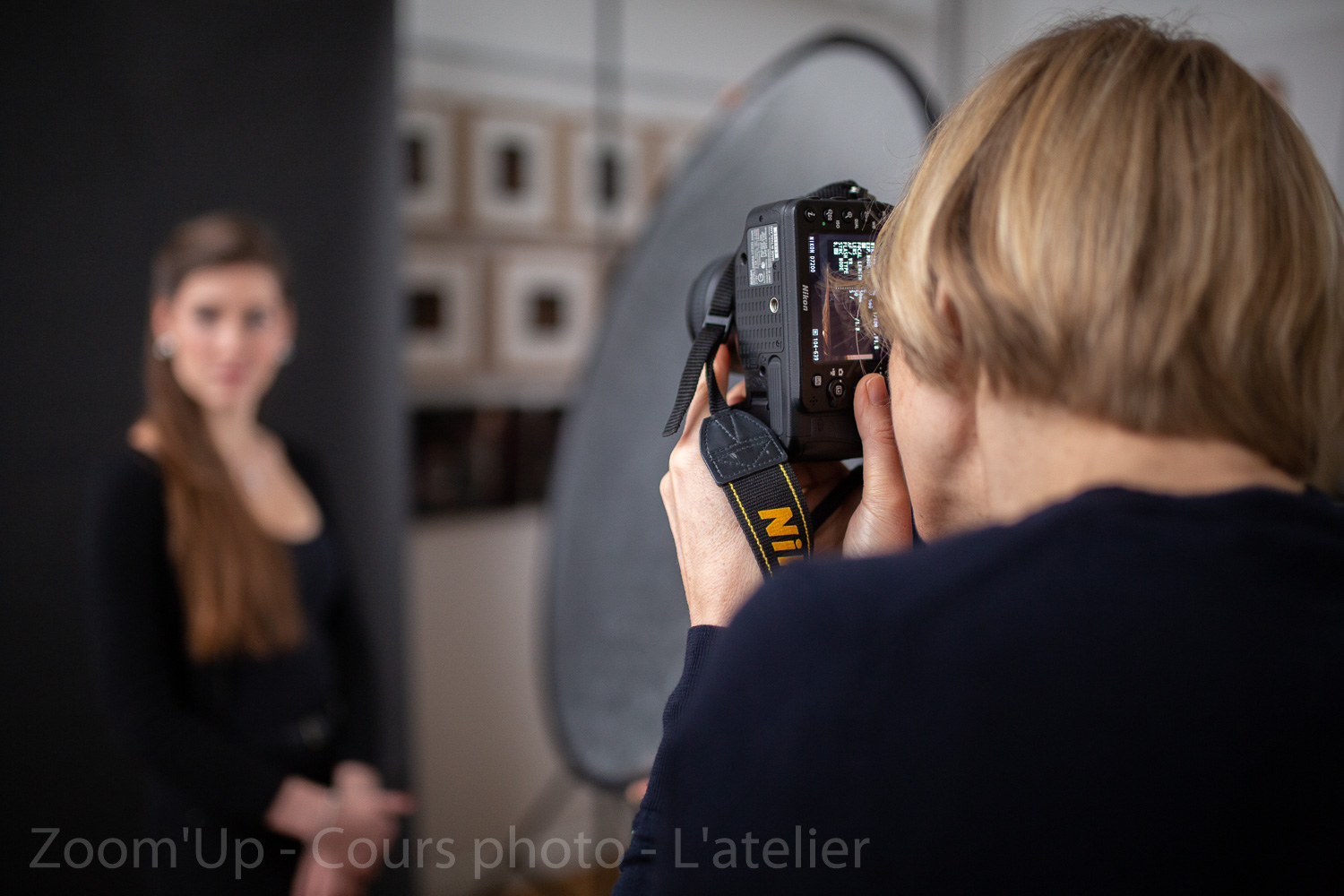 Les participants au travail. Zoom'Up - Cours photo - L'atelier